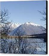 Alpine Lake Canvas Print by Mats Silvan