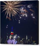 4th Of July Fireworks Canvas Print by Eduard Moldoveanu