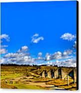 #18 At Chambers Bay Golf Course  Canvas Print by David Patterson