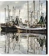 Bayou Labatre' Al Shrimp Boat Reflections Canvas Print by Jay Blackburn