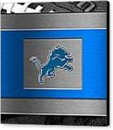 Detroit Lions Canvas Print by Joe Hamilton