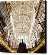 Mezquita Cathedral Interior In Cordoba Canvas Print by Artur Bogacki
