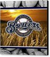 Milwaukee Brewers Canvas Print by Joe Hamilton