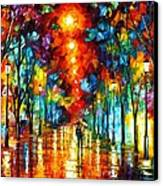 Night Park Canvas Print by Leonid Afremov