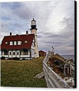 Portland Head Lighthouse Canvas Print by Skip Willits