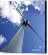 Wind Turbine Canvas Print by Bernard Jaubert