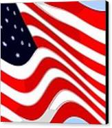 50 Star American Flag Closeup Abstract 8 Canvas Print by L Brown