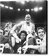 Coach Bear Bryant Canvas Print by Retro Images Archive