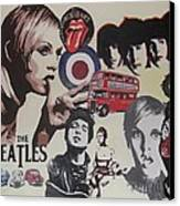 60's Montage Canvas Print by Cherise Foster