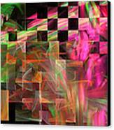 Abstract Checkered Pattern Fractal Flame Canvas Print by Keith Webber Jr