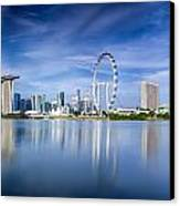 Singapore City Canvas Print by Anek Suwannaphoom