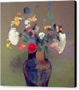 Vase Of Flowers Canvas Print by Odilon Redon