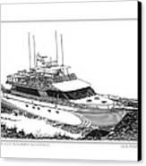 85 Foot Custom Nordlund Motoryacht Canvas Print by Jack Pumphrey