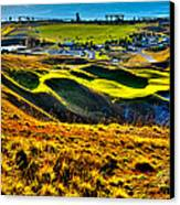 #9 At Chambers Bay Golf Course - Location Of The 2015 U.s. Open Tournament Canvas Print by David Patterson