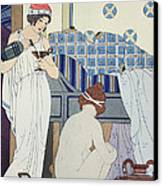 A Bath Seat Canvas Print by Joseph Kuhn-Regnier