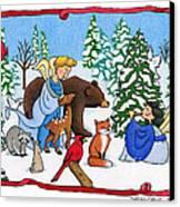 A Christmas Scene 2 Canvas Print by Sarah Batalka