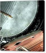 A Classic Pairing Digital Guitar And Banjo Art By Steven Langston Canvas Print by Steven Lebron Langston