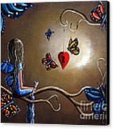 A Fairy's Heart Has Many Secrets Canvas Print by Shawna Erback