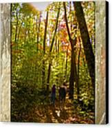 A Fall Walk With My Best Friend Canvas Print by Sandi OReilly