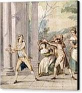 A Game Of Blind Mans Buff, C.late C18th Canvas Print by George Morland