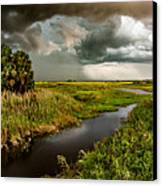 A Glow On The Marsh Canvas Print by Christopher Holmes