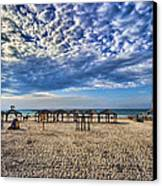 a good morning from Jerusalem beach  Canvas Print by Ron Shoshani