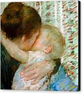 A Goodnight Hug  Canvas Print by Mary Stevenson Cassatt