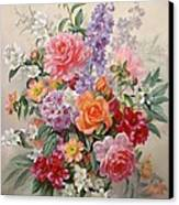 A High Summer Bouquet Canvas Print by Albert Williams