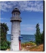 A Little Lighthouse Canvas Print by Mel Steinhauer