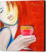 A Little Tart Canvas Print by Debi Starr