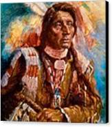 A Man Of Peace Canvas Print by Ellen Dreibelbis