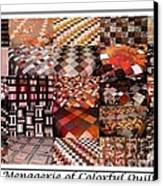 A Menagerie Of Colorful Quilts -  Autumn Colors - Quilter Canvas Print by Barbara Griffin