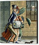 A Merry Christmas And Happy New Year Canvas Print by W Summers