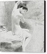 A Nymph Canvas Print by Charles Prosper Sainton