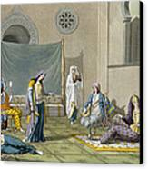 A Persian Harem, From Le Costume Ancien Canvas Print by G. Bramati