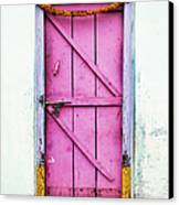 A Pink Door Canvas Print by Tim Gainey