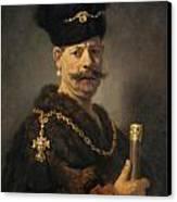 A Polish Nobleman Canvas Print by Rembrandt