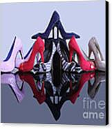 A Pyramid Of Shoes Canvas Print by Terri Waters