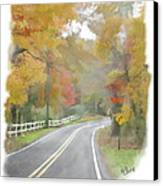 A Quiet Country Road Canvas Print by Bill Losey