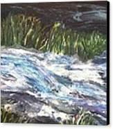 A River Runs Through Canvas Print by Sherry Harradence