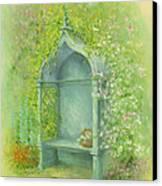 A Seat In The Garden Canvas Print by Garry Walton