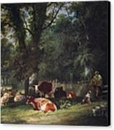 A Shady Corner Canvas Print by William Snr. Shayer