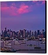 A Spectacular New York City Evening Canvas Print by Susan Candelario