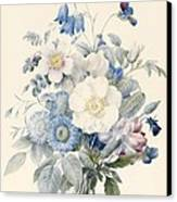 A Spray Of Summer Flowers Canvas Print by Louise D Orleans