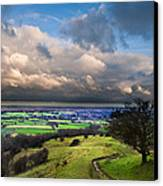 A Storm Over English Countryside With Dramatic Cloud Formations  Canvas Print by Matthew Gibson