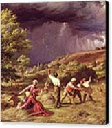 A Thunder Shower, 1859 Canvas Print by James Thomas Linnell