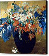A Vase Of Flowers Canvas Print by Paul Gauguin