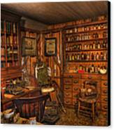 A Visit To The Doctor's Office - Old Time Physician Office - Doctors - Pharmacists - Opticians Canvas Print by Lee Dos Santos