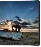 Abandoned Fishing Sunset Digital Painting Canvas Print by Matthew Gibson