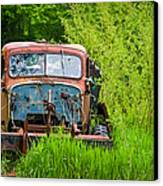Abandoned Truck In Rural Michigan Canvas Print by Adam Romanowicz